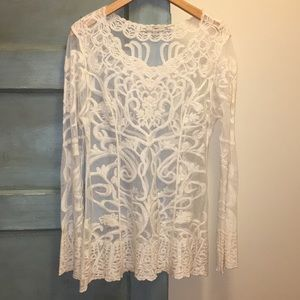 Off white lace blouse never worn